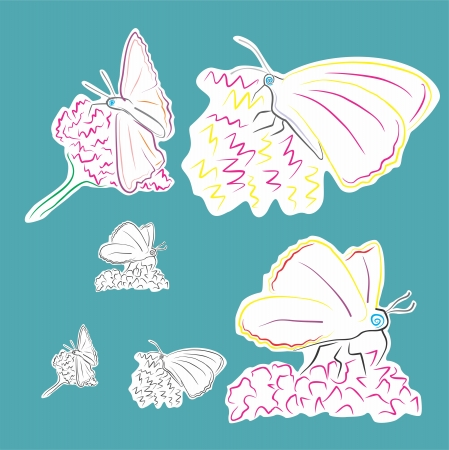 An a vector illustration of Butterfly   Files included  Illustrator 8 EPS  and JPG Stock Vector - 18219399