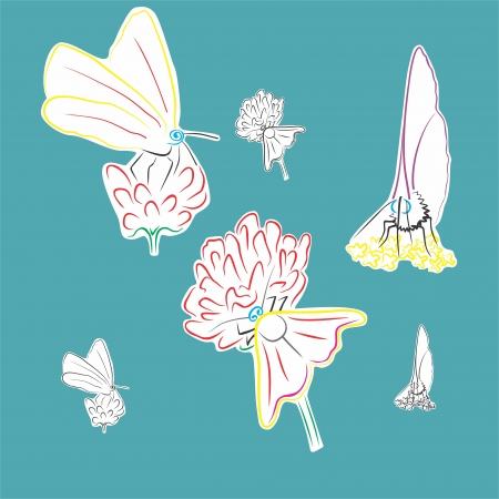 An a vector illustration of Butterfly   Files included  Illustrator 8 EPS  and JPG  Vector