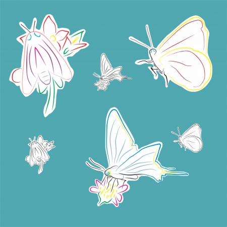 An a vector illustration of Butterfly   Files included  Illustrator 8 EPS  and JPG