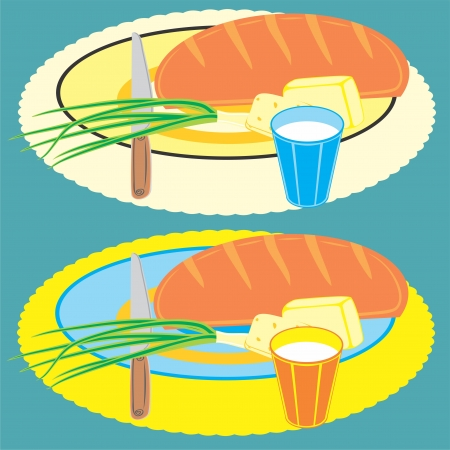 An a vector illustration of breakfast   Files included  Illustrator 8 EPS  and JPG
