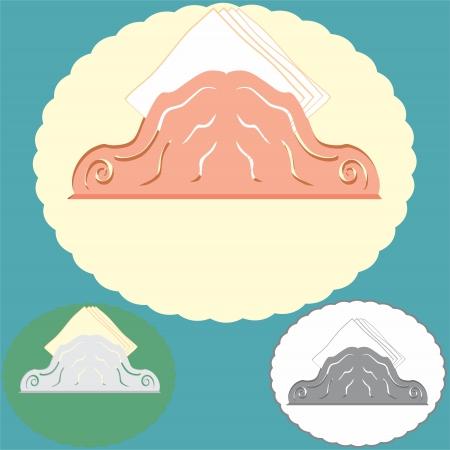 kitchen studio: An a vector illustration of napkins   Files included  Illustrator 8 EPS  and JPG  Illustration