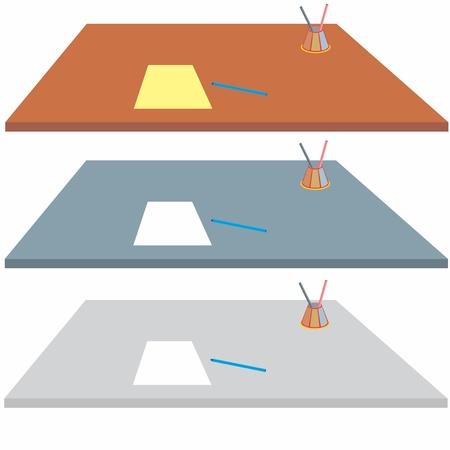 An a vector illustration of desk   Files included  Illustrator 8 EPS  and JPG  Illustration