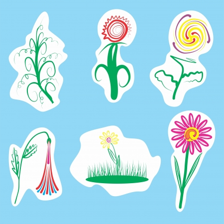An a vector illustration of Flower   Files included  Illustrator 8 EPS  and JPG