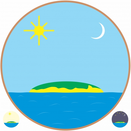 An a vector illustration of Island   Files included  Illustrator 8 EPS  and JPG