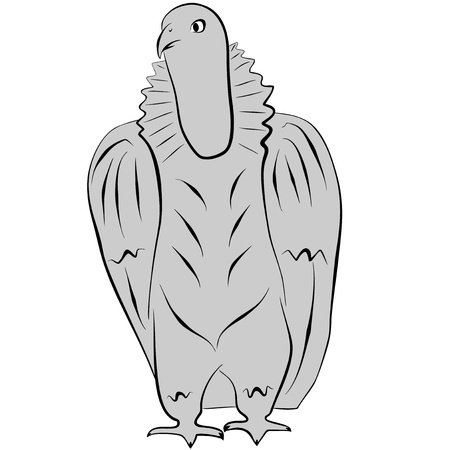 An a vector illustration of Eagle  Files included  AI8 EPS and JPG Illustration