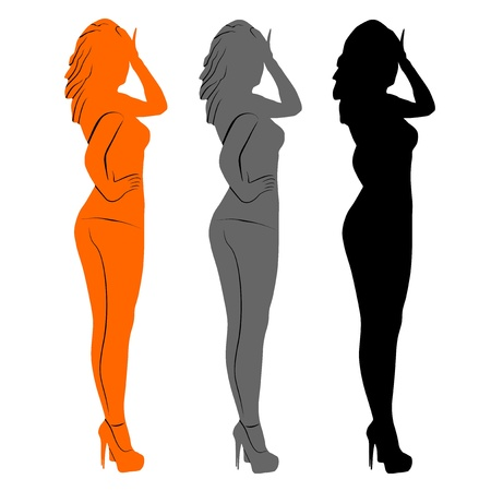 An illustration of Women  Vector