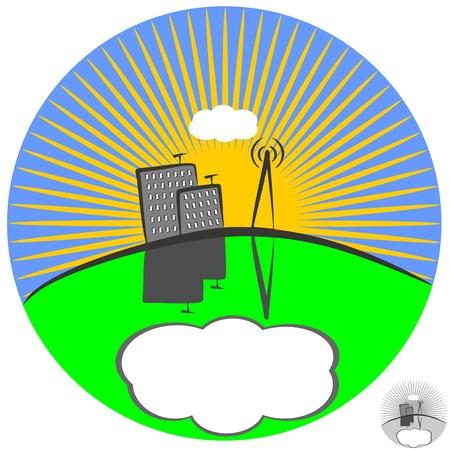 An illustration of City  Illustration
