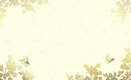 high class: golden shining flower background Stock Photo