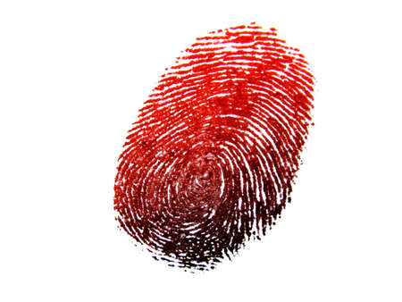 crime: Thumb Print  Stock Photo