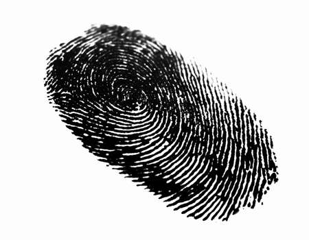 police unit: Thumb Print  Stock Photo
