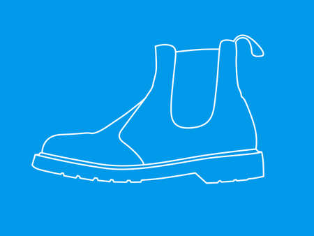 sideview: Line Drawing of Shoes