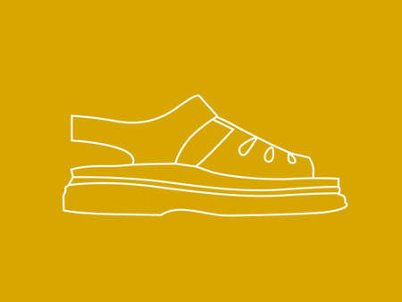 sideview: Line illustration of shoe
