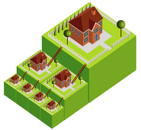 deposits: House Move Property Ladder Stock Photo