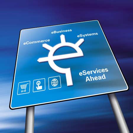 E-Commerce-Zeichen  Lizenzfreie Bilder