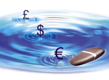 launder: El dinero de piedra de agua Ilustraci�n