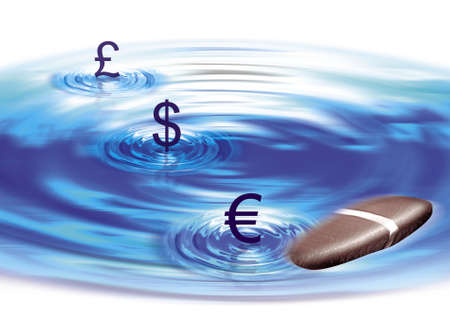 Money Water Stone Illustration illustration