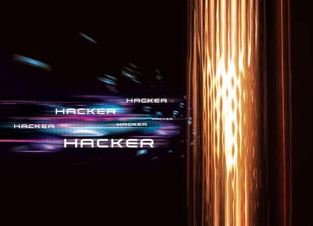 security barrier: Computer Hacker