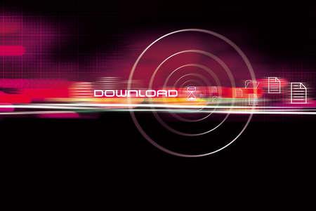 Computer Downloads Stock Photo