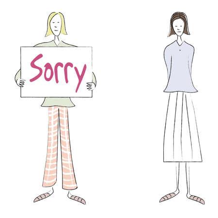 saying: Saying Sorry Stock Photo