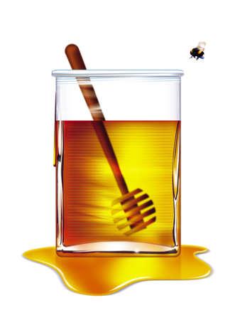 buzzing: Bee going to Honey Pot