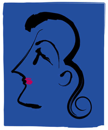 profile face: Womans Profile Face