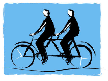 bycicle: Tandem bycicle