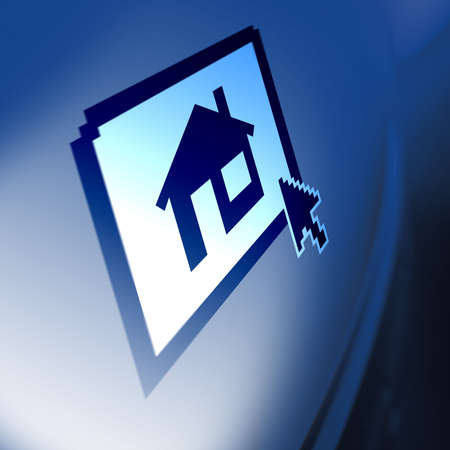 Computer Screen Property house icon Stock Photo - 362309