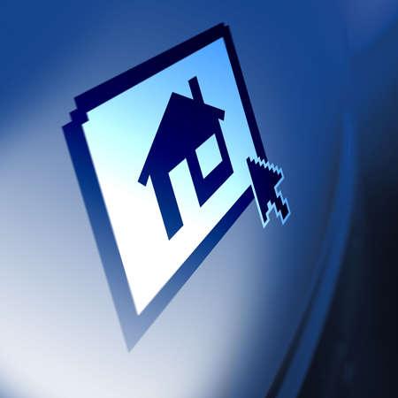 Computer Screen Property house icon photo