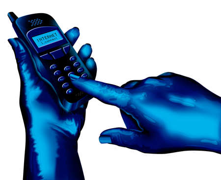 dialing: Marcado de m�viles  Foto de archivo