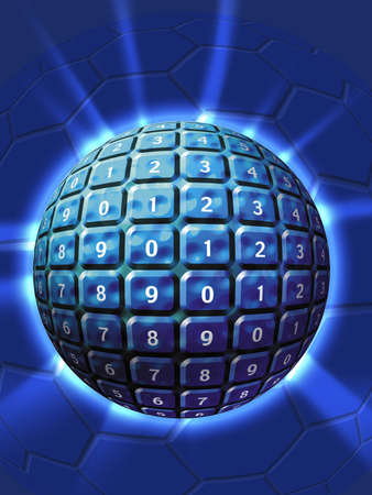 Numbered Sphere Stock Photo - 362326