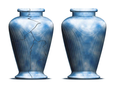 pretend: two vases one cracked