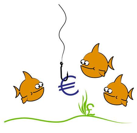 Goldfish looking at Bait photo