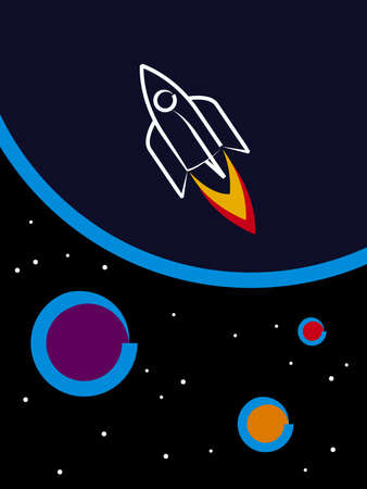 outerspace: Travel to Space Stock Photo
