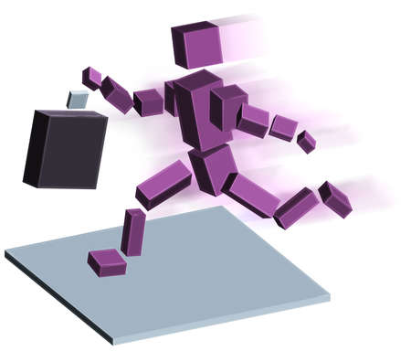 Robot running photo