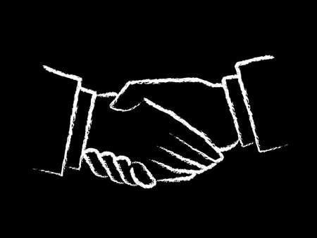 surrender: Chalk Board Handshake