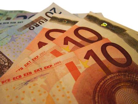dosh: Euro Bank notes Stock Photo