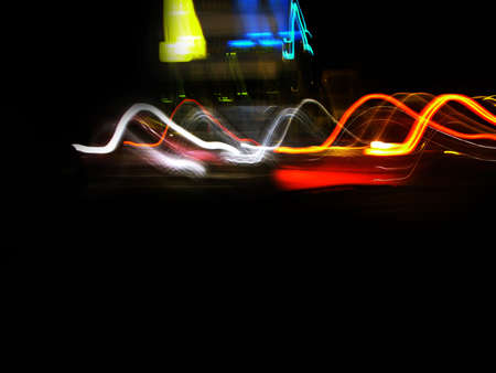 dazzle: car tail lights Stock Photo