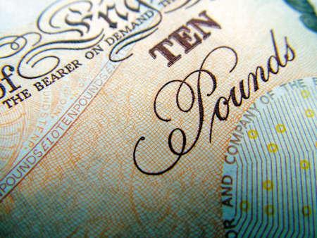 coinage: Ten Pound Banknote Stock Photo