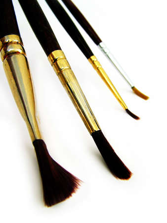 Four Paintbrushes photo