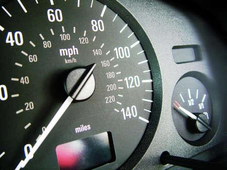 mileage: Car interior Dashboard