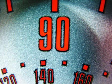 mph: 90 MPH Stock Photo