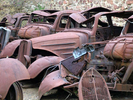 rusty old cars photo