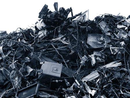 scrap metal: Rottami di metallo  Archivio Fotografico
