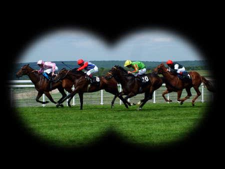 horse races: carrera de caballos  Foto de archivo
