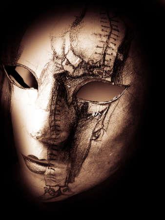 mascara de teatro: Carnaval M�scara