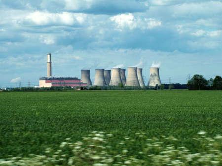 nuke plant: Power Station  Foto de archivo
