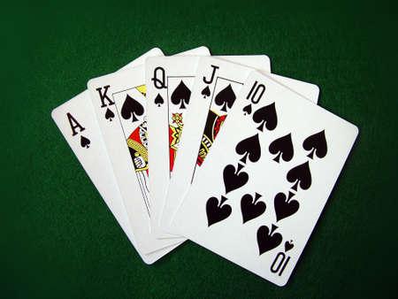 Karten, die Karten Sch�rhaken-Sp�ne Spielen