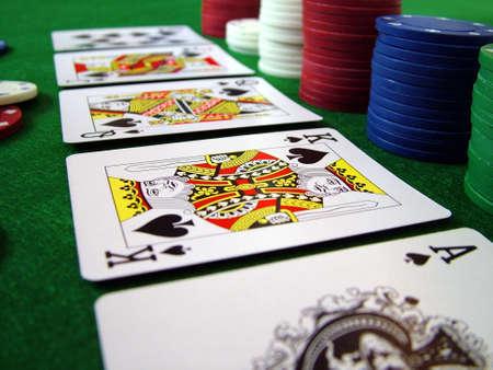 Cards Spielkarten Poker Chips Editorial