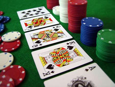 kartenspiel: Karten, die Karten Sch�rhaken-Sp�ne Spielen