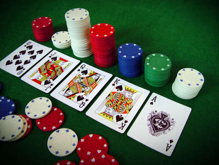 Cards Playing Cards Poker Chips Stock Photo - 377842
